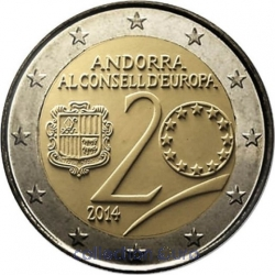 Coin Commemorative Andorra 2014