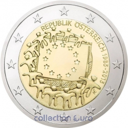Area Euro coin of Euro 2€ 2015