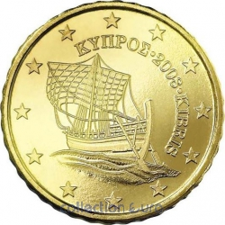 Coins cyprus of 0.10