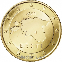 Coins estonia of 0.50