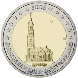 commemorative coin of Euro 2€ 2008