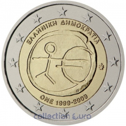 Coin Area Euro Greece 2009