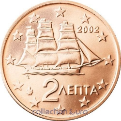 Coins greece of 0.02