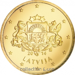 Coins latvia of 0.50