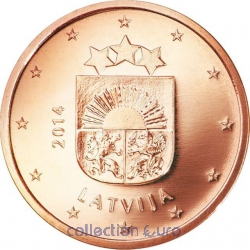 Coins latvia of 0.02
