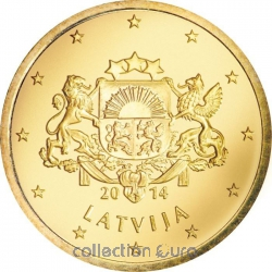 Coins latvia of 0.10