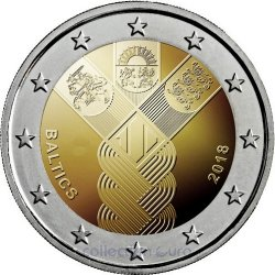 Coin Area Euro Latvia 2018