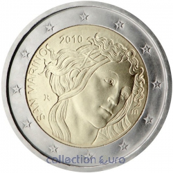 commemorative coin of Euro 2€ 2010