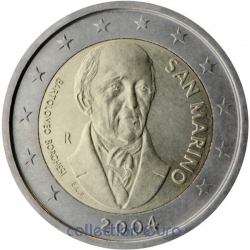 commemorative coin of Euro 2€ 2004