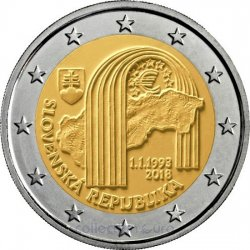 Commemorative coin of Euro 2€ 2018