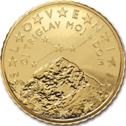 Coins slovenia of 0.50